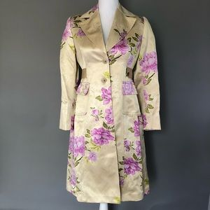 Banana Republic floral silk trench coat